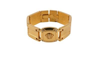 Lot 69-Gianni Versace Medusa Square Link  Bracelet