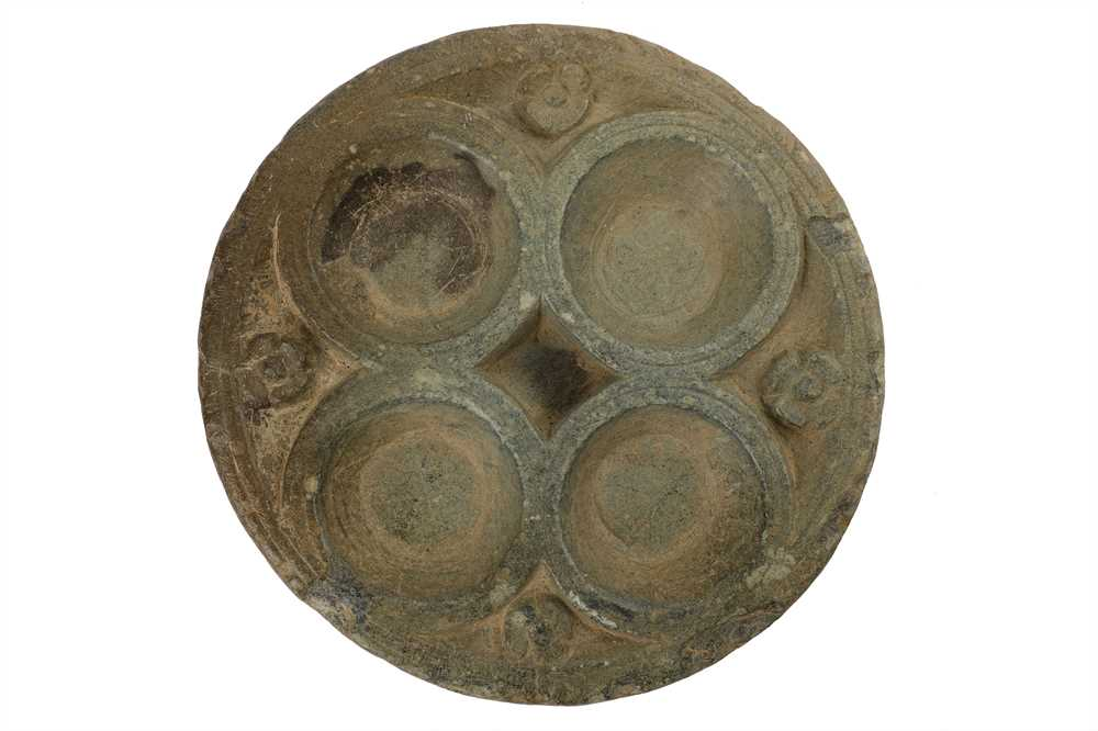 Lot 103-A CARVED GREY SCHIST OFFERING TRAY