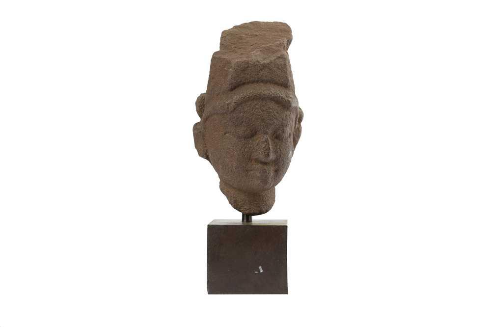 Lot 112-A GRANITE HEAD OF A HINDU GOD