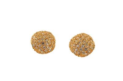 Lot 81-YSL Rhinestone Clip On Earrings