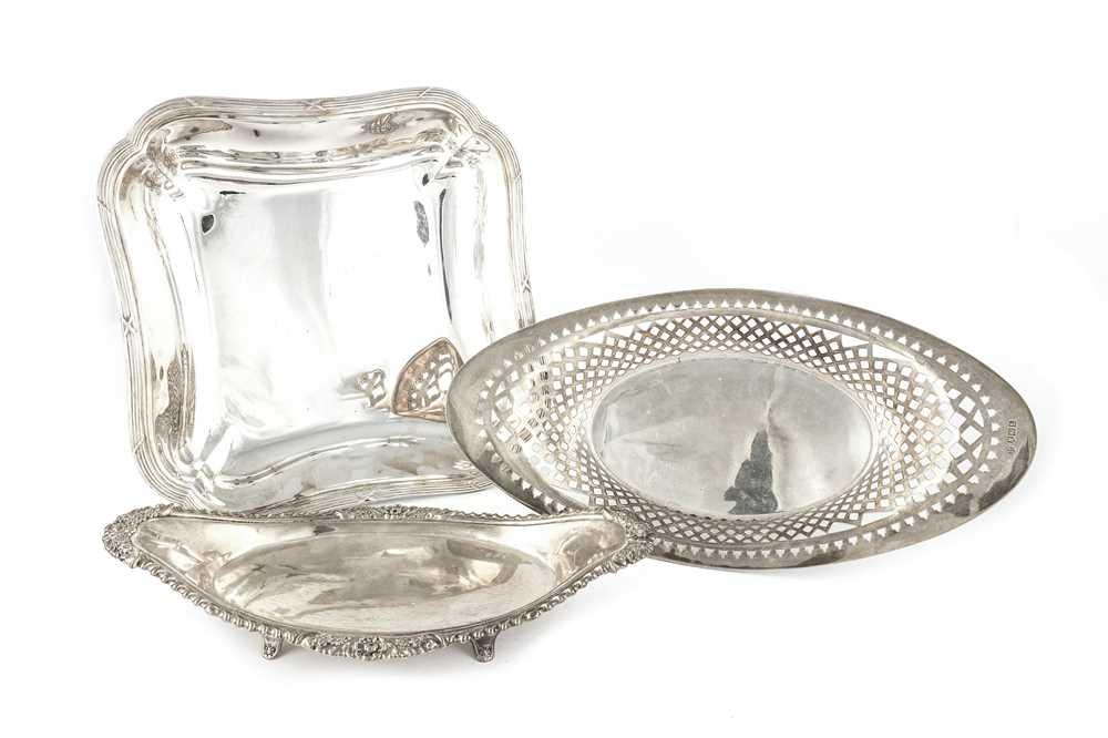 Lot 41-A George V sterling silver bread basket
