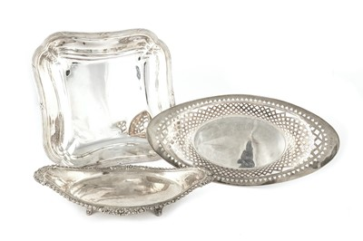 Lot 41-A George V sterling silver bread basket