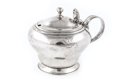 Lot 45-A George IV sterling silver mustard