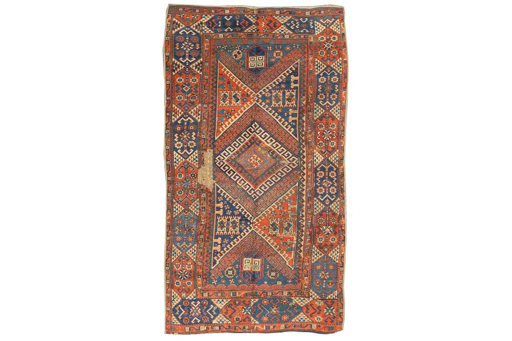 Lot 6-AN ANTIQUE BERGAMA LARGE RUG, TURKEY