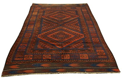 Lot 36-AN ANTIQUE BALOUCH RUG, NORTH-EAST PERSIA