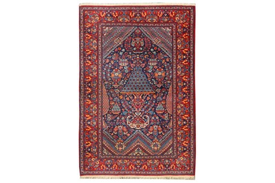 Lot 5 - A VERY FINE KASHAN PRAYER RUG, CENTRAL PERSIA