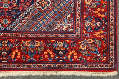 Lot 5-A VERY FINE KASHAN PRAYER RUG, CENTRAL PERSIA
