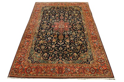 Lot 47-AVERY FINE PART SILK QUM RUG, CENTRAL PERSIA