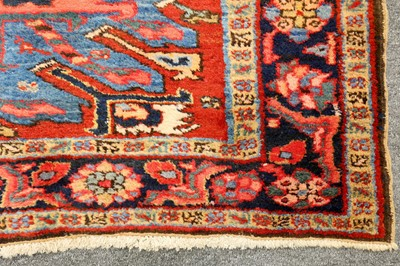 Lot 45-UNUSUAL HERIZ RUG, NORTH-WEST PERSIA