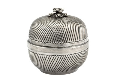 Lot 68-A mid-20th century Greek 900 standard silver baklava bowl and cover, circa 1960