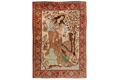 Lot 11 - A VERY FINE ISFAHAN PICTORIAL RUG, CENTRAL PERSIA