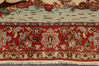 Lot 11-A VERY FINE ISFAHAN PICTORIAL RUG, CENTRAL PERSIA