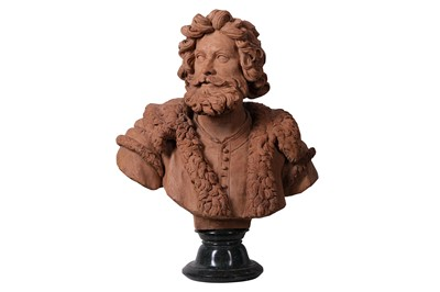 Lot 16-A LATE 17TH / EARLY 18TH CENTURY SOUTH NETHERLANDISH TERRACOTTA BUST OF A BEARDED MAN