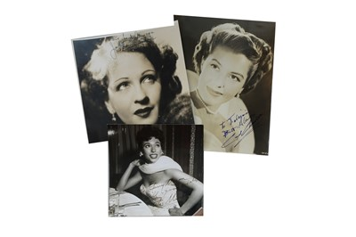 Lot 60-Photograph Collection.- Vintage Actresses
