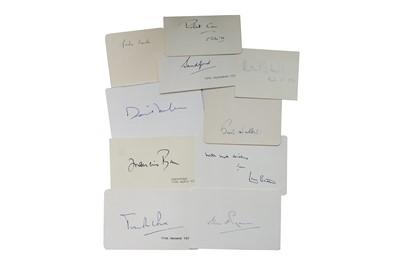 Lot 1035 - Autograph Collection.- Politicians