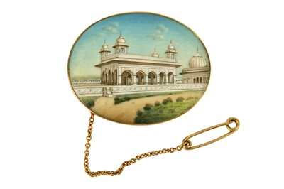 Lot 113-Indian monument brooch