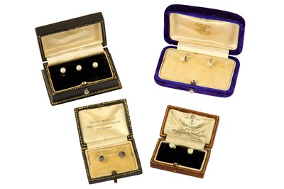 Lot 107-A collection of shirt studs
