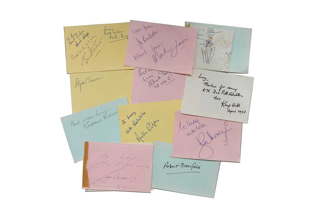 Lot 34-Autograph Collection.- Incl. Roger Moore