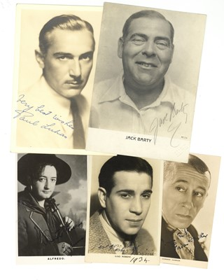 Lot 52-Photograph Collection.- Actors & Music Hall Stars