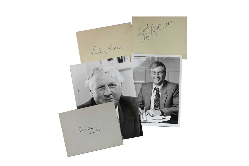 Lot 27-Autograph Collection.- British Politicians