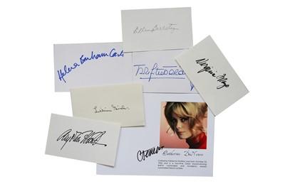 Lot 123-Autograph Collection.- Actresses