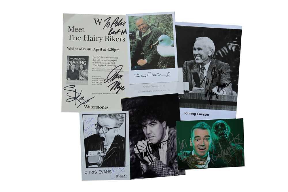 Lot 43-Autograph Collection.- TV & Radio Presenters