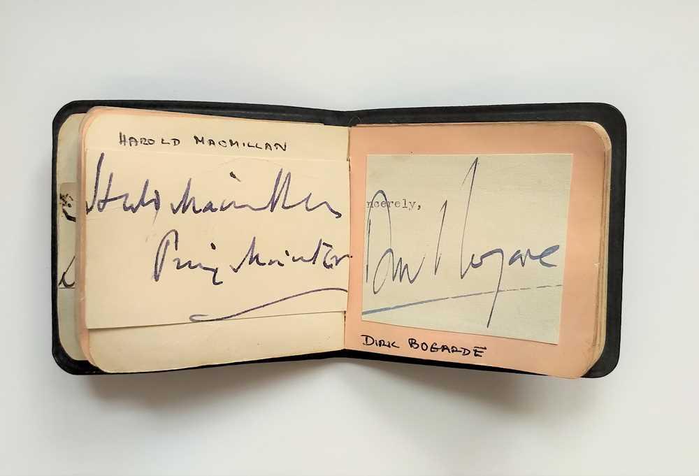Lot 15-Autograph Album.- Actors & Cricketers