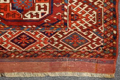 Lot 47-AN ANTIQUE KIZILAYAK CARPET, TURKMENISTAN