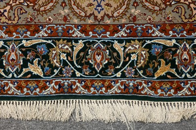 Lot 35-AN EXTREMELY FINE PART SILK ISFAHAN  RUG, CENTRAL PERSIA