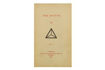 Lot 1523 - Southey (Robert) The Doctor [The Three Bears]. 1834