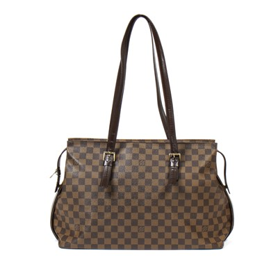 Lot 9-Louis Vuitton Damier Ebene Chelsea Tote