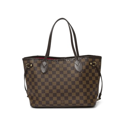 Lot 15-Louis Vuitton Damier Ebene Neverfull PM
