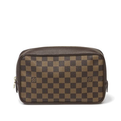 Lot 20-Louis Vuitton Damier Ebene Toiletry Pouch