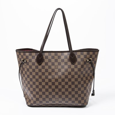 Lot 12-Louis Vuitton Damier Ebene Neverfull MM
