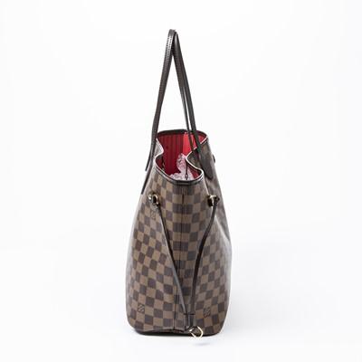Lot 12-Louis Vuitton Damier Ebene Neverfull MM