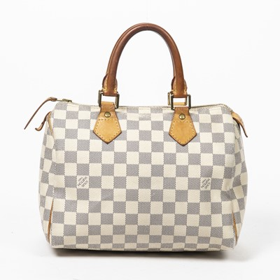 Lot 3-Louis Vuitton Damier Azur Speedy 25