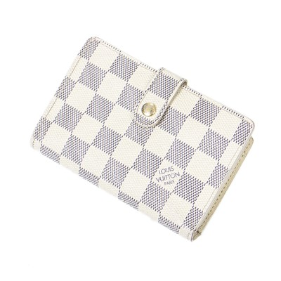 Lot 7-Louis Vuitton Damier Azur French Wallet