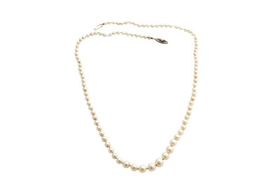 Lot 46-A single-strand cultured pearl necklace, by Mikimoto