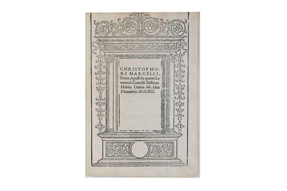 Lot 18-Church History.- Marcello (Cristoforo)