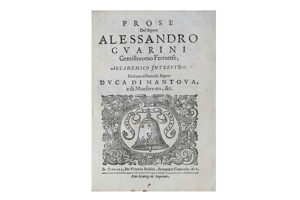 Lot 33-Guarini (Alessandro, the Younger)