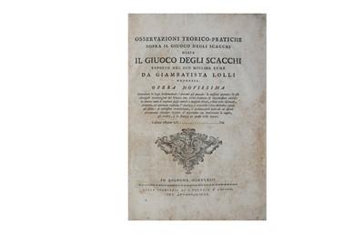 Lot 17-Chess.- Lolli (Giovanni Battista)