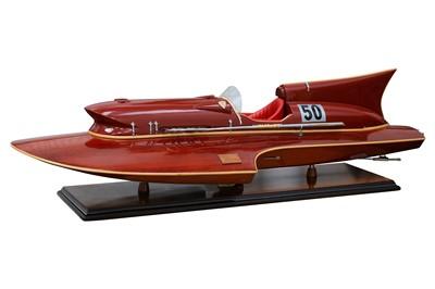 Lot 126-Nando Dell'Orto Ferrari Hydroplane Model