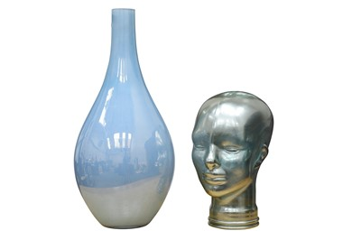 Lot 134-Art Glass Vase and Bust