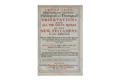Lot 95-Religion & Literature, Miscellany.