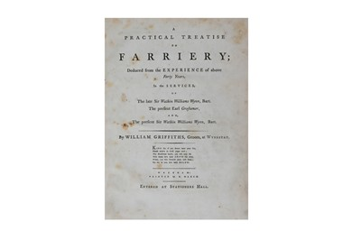 Lot 75-Farriery.- Griffiths (William)