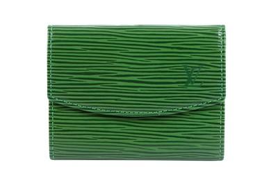 Lot 53-Louis Vuitton Green Epi Coin Purse