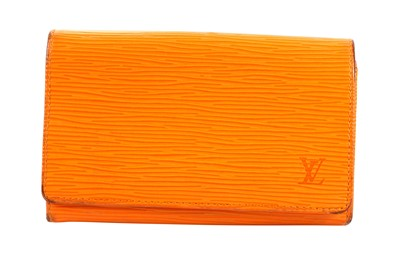 Lot 55-Louis Vuitton Mandarin Epi Porte Tresor Zip Wallet