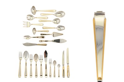 Lot 76-An extensive modern German sterling silver parcel gilt table service of flatware / canteen, circa 1990 by Robbe & Berking