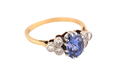 Lot 39-A sapphire and diamond ring