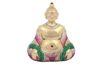 Lot 1275-Judith Leiber Crystal Buddha Minaudiere